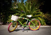 Bicycle Art / Hand Painted Art Bicycles by local Key West Artists.
