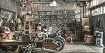 Inside the man cave... / Man-Tiques, Vintage Cars & Motorcycles, curiosities & Decor for the Gents Room.