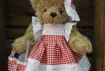Teddyberen kleding maken./ Ours en Peluche / maken van teddyberenkleding.