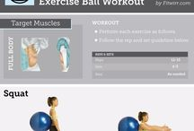 Exercise Ball/Bands Workouts