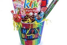 Birthday Candy Bags / Birthday party bags, gift tins and gift baskets
