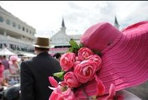 Hats at the Kentucky Derby / Every fashionista knows one of the most important traditions of the Kentucky Derby is the hat! Most women build an entire outfit around the hat or custom build hats to match an outfit. One of the best parts of attending the Kentucky Derby is looking at all the works of art adorned on fans head. Hopefully these can serve as inspiration for your next Kentucky Derby hat!