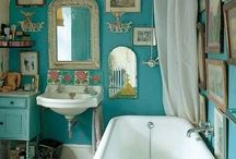 Turquoise & Gold Bathroom / by Emilia Myllyviita