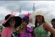Fashion at the Kentucky Derby / The Kentucky Derby is synonymous with horse racing AND fashion. Bright colors, big hats and glamor!