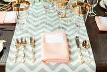 Table Manners. / Ideas for setting a perfect table because it is here the magic happens.