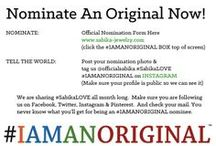 2014 #IAMANORIGINAL Campaign / We are sharing #SabikaLOVE all month long. Make sure you are following us on Facebook, Twitter, Instagram & Pinterest. You never know what you will recieve being an #IAMANORIGINAL nominee.   https://sabika.wufoo.com/forms/smf6egt1of6drn/