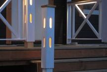KAVA Lights for you/KAVA Product / Lighting is everything, even outdoors, terrace and patio.  KAVA Product designs and manufactures wooden balusters, posts, columns with light. Wooden lamps with light.