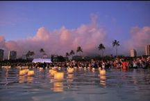 LFH - official pictures / Held annually on Memorial Day on O`ahu's south shore, Lantern Floating Hawaii brings over 40,000 people on the beach for an evening of honoring departed loved ones. The aim of the ceremony is to give people a personal moment to remember, reflect, and offer gratitude to those who came before us. It is a chance to be surrounded by the love, understanding, and support of others - even strangers who are experiencing many of the same feelings and emotions. www.lanternfloatinghawaii.com.