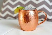 Hammered Copper Mugs / Hammered Copper Mugs