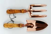 Our Garden to Yours / Every gardener has their staple products... ours include our flawless, handcrafted copper hand tools. Copper helps deter slugs and snails, while helping soil retain water. Beautiful, unique, irreplaceable.