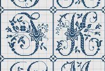 Výšivka - monogramy