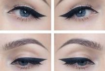 Winged Eyeliner / How to create stunning and beautiful winged tip eyeliner looks. Makeup tricks & ideas on how to create  dramatic & perfect cat-eye liner. Awesome tutorials on how to use scotch tape for eyeliner perfection, pens, brushes, pencil, sparkles, liquid liner & eyeshadows - for a pretty & perfect cat eye. Tips on how to apply winged tip eyeliner according to your face shape, winged eyeliner for small eyes & if you have hooded eyes. Easy, effortless winged liner anyone can achieve by Makeup Tutorials.