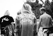 METAL ALOHA / We are the salty hair head bangers. We rock out to Metallica in our favourite bikinis, throwing up shakas on one hand and devil horns on the other. Middle fingers to mainstream trends, this is METAL ALOHA.