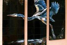 Custom Residential Tile Murals / Custom hand painted tile for interior or exterior use