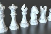 3D Printed Chess Sets and Pieces / Chess boards and pieces - 3D printed only