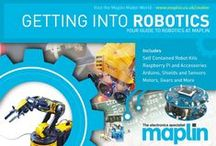 Robotics at Maplin / Making Robots! Self contained kits for kids, books and all the accessories you need to make robots. Arduino, Raspberry Pi, Adafruit Sensing Modules - we have it all - download our full guide as a pdf at maplin.co.uk/maker