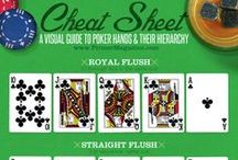 The Indispensable Poker Cheat Sheet / Cheat sheets and pictures to help you memorize pot odds, what cards to play from each starting position, rules for Omaha, and everything else you need to win at Poker.