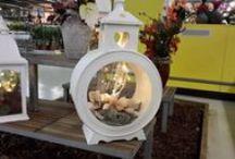 lantaarns en kunst stukken / lantaarns, zijdestukken en foam decoraties