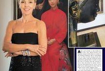 Press / Marie France Van Damme in the press.
