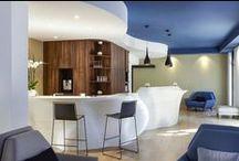 Hôtellerie / Plan vasque, baignoire, receveur de douche, banque d'accueil,..., en résine de synthèse V-korr.
