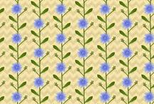 Plants Patterns / Patterns for print fabric, gift wrap, wallpaper. Plants Design