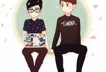 Dan and Phil ʕ•ᴥ•ʔ