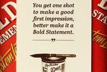 Bold Statements Design / Custom lettered design work by Bold Statements - Logo's, Business Cards, Apparel