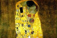 Gustᗩv Klimt ♥ / Gustav Klimt (July 14, 1862 – February 6, 1918) was an Austrian symbolist painter and one of the most prominent members of the Vienna Secession movement. Klimt is noted for his paintings, murals, sketches, and other objets d'art.