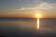 Sunset over Saginaw Bay / Sunset shots taken from a hotel balcony near Caseville, MI