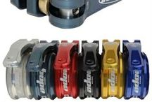 Hope MTB Seatpost Clamps - mountain bike parts / monkamoo.com offers both a bolt on and quick release Hope mountain bike seatpost clamp.