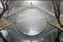 A Bridge ╥﹏╥ over the water / Bridges, Paths & Viaducts around the world / by ˙·●●๑۩  Maïa Lavida  ۩๑●●·˙