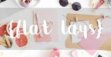 FLAT LAYS / Get inspired by the best flat lays from your favorite influencers. #bloggers