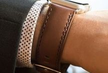 Apple Leather Watch Straps / Affordable 100% genuine calf leather watch bands created for your Apple Watch.