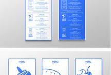 Cup! Menu Layout / 2 (DOS) diseños de menu:  1. Poster gigante  2. Plegable mediano en cada mesa.  (TPOGRAFICO - ICONOS - CLARIDAD)
