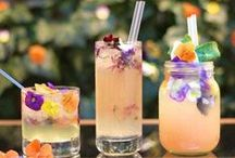beverages / alcoholic and non-alcoholic drinks, serving ideas and punches.