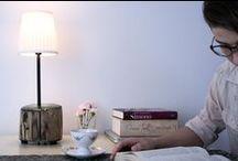 Sęki w mieście - lampka / Kilka zdjęć z mojego bloga. Lampka z orzechowego pnia.
