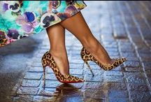 shoes print  animal heels