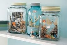 DIY - JARS! JARS! & more JARS! / DON'T throw away that jar!!! Look at what you can create! ~MHE / by Michelle Eliason
