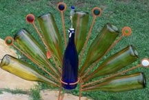 DIY - Wine Bottle Ideas / Drink up your wine, then you can do this!   ~MHE / by Michelle Eliason