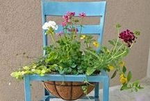 GARDEN - Have a SEAT / CHAIRS! CHAIRS! Everywhere... yet not a place to sit ~MHE / by Michelle Eliason