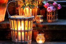 DECOR - Lighting the Mood / That beautiful glow of elegance and romance... all through ligting ~MHE / by Michelle Eliason