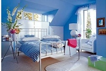 BEDROOM ~ BLUE & WHITE / by Sue Dewland