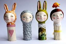 Art dolls and sculptures