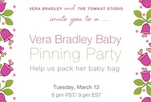Vera Bradley Baby Pinning Party / In celebration of Vera Bradley Baby due March 14, we're having a pinning party! The theme: If you were helping your best girlfriend pack her overnight bag, what would you suggest she carry? Hosted by Kim Stoegbauer of The TomKat Studio and a few of her fabulous friends: Tara Wilson of Tara Wilson Events, Kelly Lyden of The Party Dress, Stephanie Frazier Grimm of Couture Parties, and Melisa Fluhr & Pam Ginocchio of Project Nursery.  / by Vera Bradley