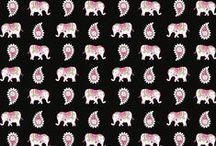 2008 Patterns / Inspiration for 2008 Prints: Pink Elephants