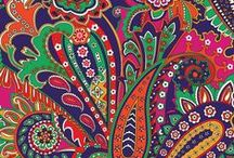 Inspiration: Venetian Paisley / Rich with vibrant colors, this is a classic paisley of opulent jewel tones. Inside, navy zigzags add a graphic touch. Shop Venetian Paisley at www.verabradley.com.  / by Vera Bradley