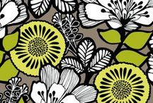 Inspiration: Citron / A bold, hand-rendered floral with one of the brightest hues of the season - a not-somellow yellow - on a neutral ground with fresh white and inky black reminds us of sun-filled days ahead. A peek of chevron lining provides an appealing contrast. Shop Citron at www.verabradley.com.  / by Vera Bradley