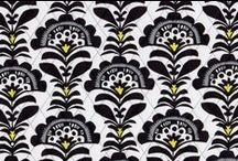 Inspiration: Fanfare / A historic, timeless pattern was treated with an energetic dose of citron for a bold new take on black and white. Shop Fanfare at www.verabradley.com.  / by Vera Bradley