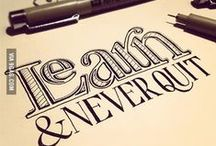 HAND LETTERING / Hand lettering guides, tips and inspiration.