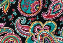 Inspiration: Parisian Paisley / Bold brights are complemented by wearable black and on-trend red to create a '70's rock vibe mixed with a '90's grunge aesthetic. / by Vera Bradley
